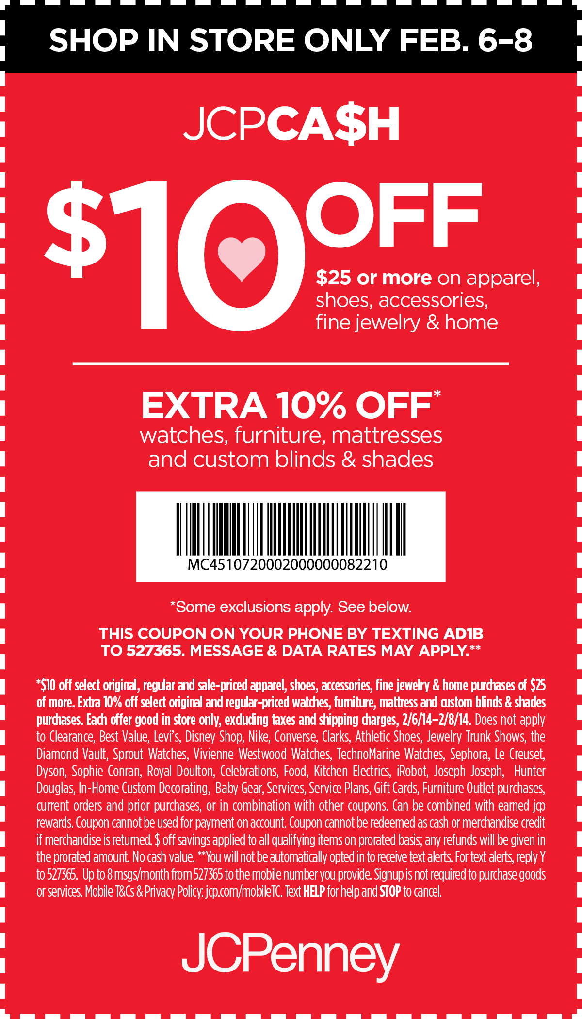Jcp coupon code 10 off